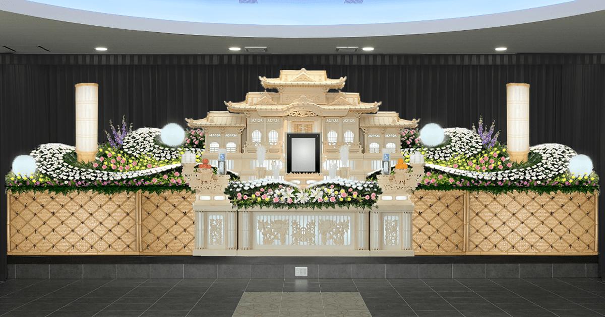 祭壇 白木 白色を基調とする花祭壇のまとめ 葬儀・家族葬・お葬式なら「花葬儀」